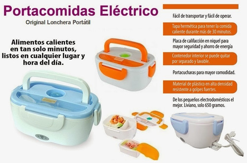 lonchera taper eléctrico calentador de comida portatil