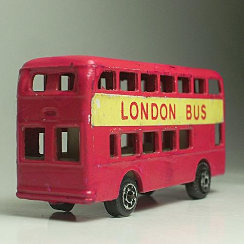 london bus, double deck bus marca tink-toys, die-cast metal