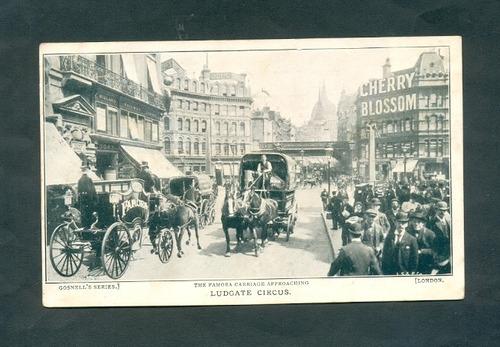 londres ludgate circus . antigua tarjeta postal .