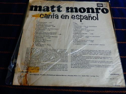 long play matt monro canta en español, año 1968.