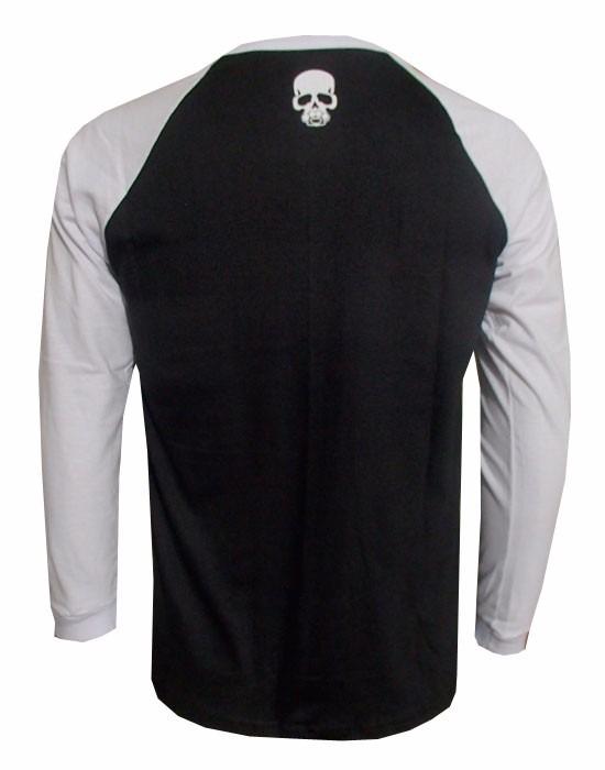 7d4253e09 camisa sumemo manga longa cinza manga preta caveira · camisa manga longa  manga · longa manga camisa manga