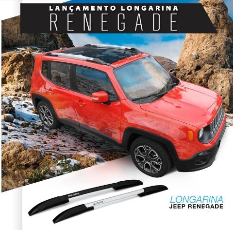 longarina de teto bagageiro + travessas jeep renegade