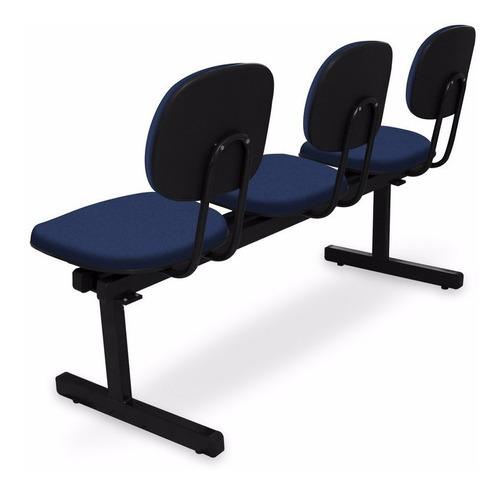 longarinas e cadeiras para igrejas - 3 lugares injetada