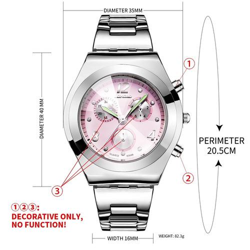 longbo longbo reloj de pulsera de cuarzo analógico para muje
