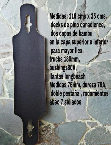 longboard completa colombian x-games freerider  cruising
