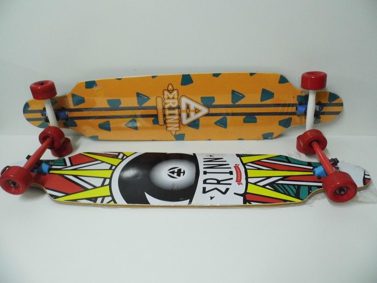 Longboard marca erinn 107x24cms madera maple abec 9 for Madera maple