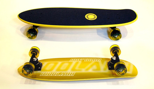 longboard mini cruiser - neon serie- tabla estilo old school