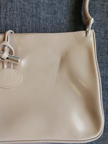 longchamp bolsa modelo roseau piel beige autentica
