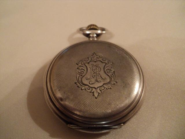 152159b56b4e Longines Reloj De Bolsillo Antiguo Caja De Plata 0
