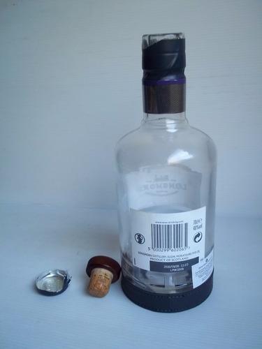 longmorn single malt scotch whisky botella vacía base cuero