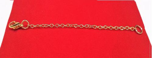 longo extensor colar banho ouro 18k americano 2mm 10cm l1026