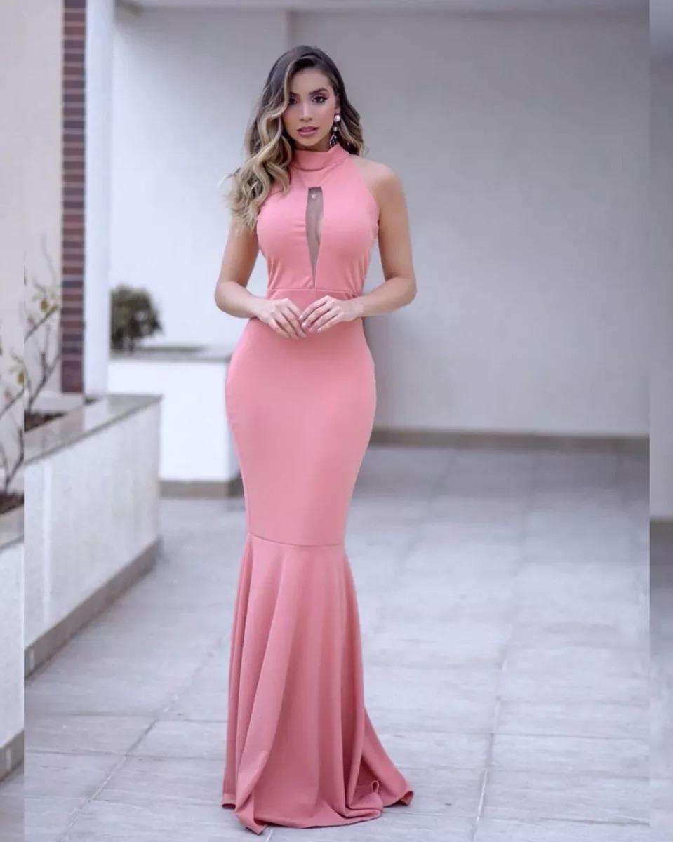 fbf6eacec Vestido Longo Festa Sereia Madrinha Casamento Formatura #l20 - R ...