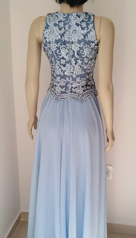 f3c595744 Vestido Festa Longo Azul Serenity Madrinha Casamento Civil - R$ 335 ...