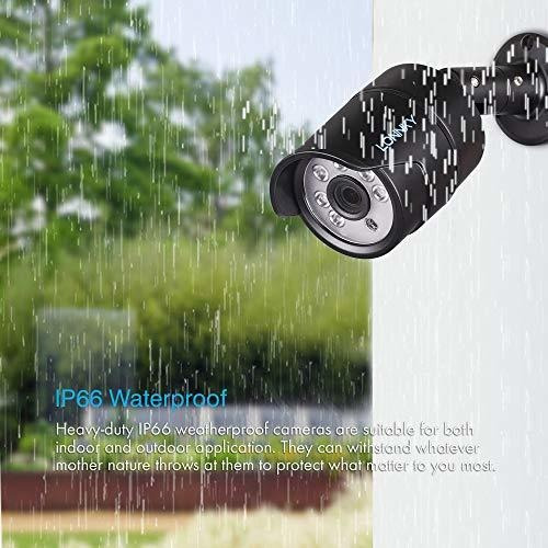 lonnky sistema de cámara de seguridad full hd 1080p impermea