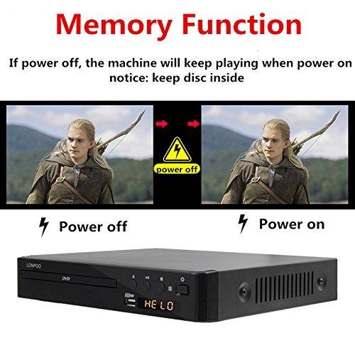 lonpoo 2.0ch reproductor de dvd compacto hd reproductor de c