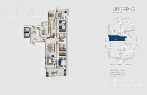 look brava, 2 dormitorios en suite   toilette