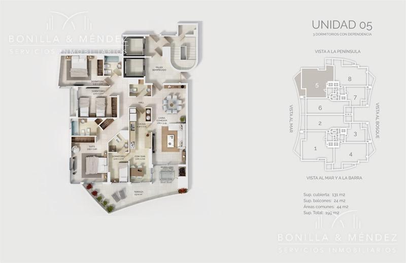 look brava, 2 dormitorios en suite, toilette, equipado, febrero 2020!!