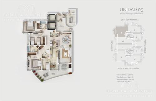 look brava, 3 suites, toilette, dependencia, garage doble, estrene en lo alto! ocupación inmediata