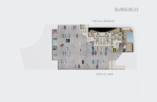 look brava!! piso alto de 1 dormitorio en suite más toilette y parrillero en balcón! la mejor planta en su estilo.