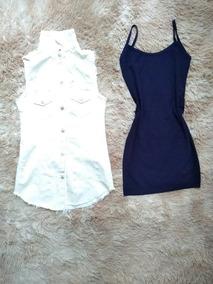 756c4bfa8 Colete Em Linho Feminino - Vestidos Femeninos Branco Longo com o Melhores  Preços no Mercado Livre Brasil