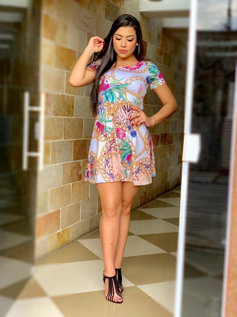 dd2b87db8fb45 look fashion vestido midi da moda atual feminina roupas pop. Carregando  zoom.