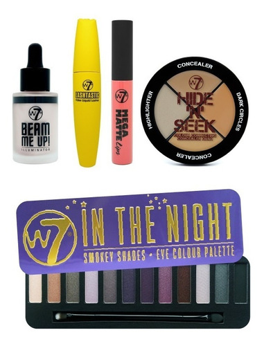 look sombras w7 in the night