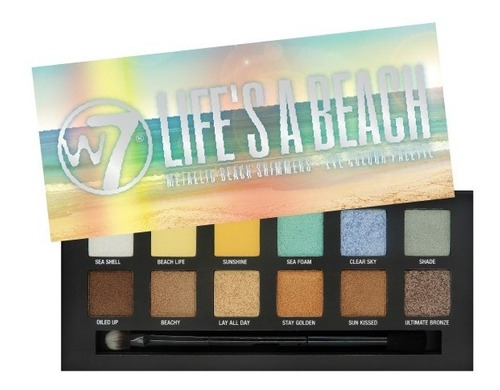look sombras w7 life´s a beach