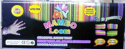 loom band mambo telar fabrica pulsera 600 gomitas ganchitos