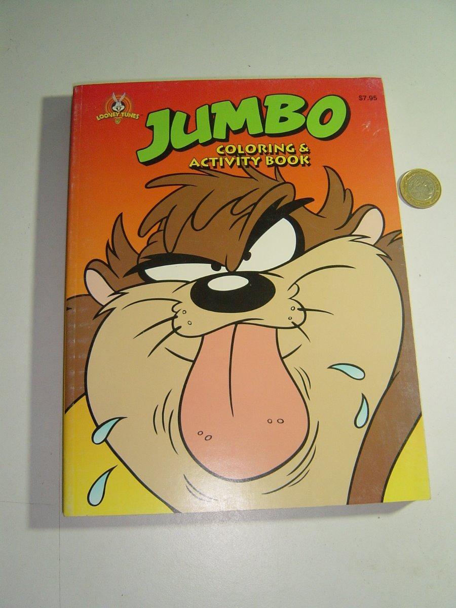 Looney Tunes 1995 Libro Para Iluminar O Colorear Tazmania