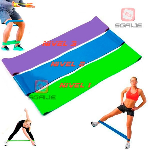 loop band ligas resistencia tapout fitness gimnasio 3 pack