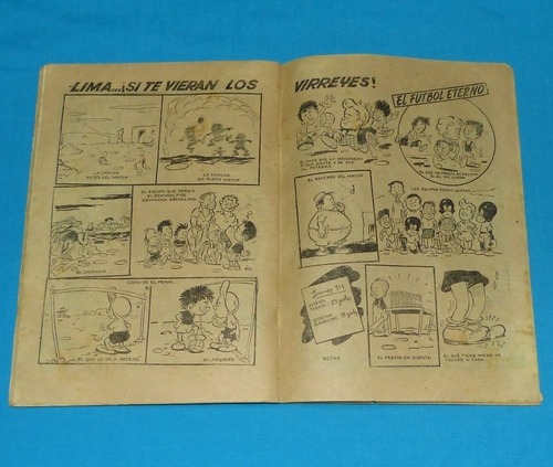 loquibambia 8 semanario humor 1954 comic peruano antiguo