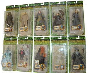 lord of the rings serie de 10 fig. diferentes serie 7vbc