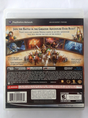 lord the rings ps3 jogo lego the