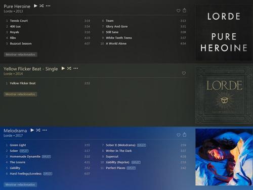 lorde (discografia)
