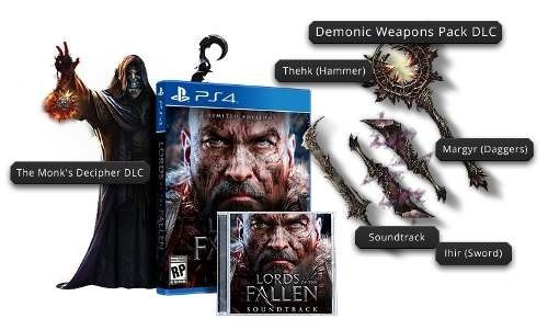 lords of the fallen limited edition - ps4 - midia fisica