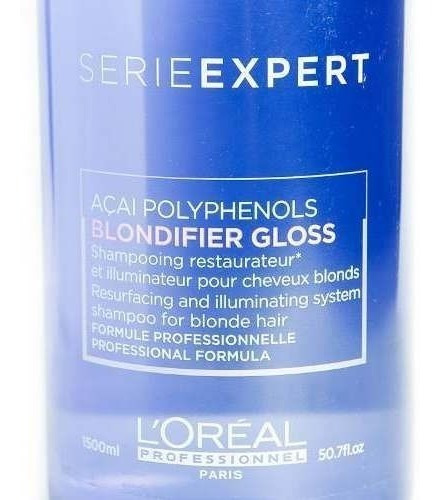loreal blondifier gloss shampoo reparador pelo rubio 1500 ml