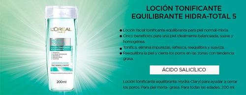 loreal hidra total 5 loción tonificante piel mixta grasa