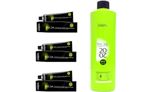 loreal kit inoa 3 colorações +1 oxidante 20vol