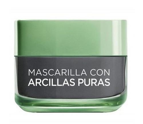 loreal mascarilla 3 arcillas puras efecto detox verde
