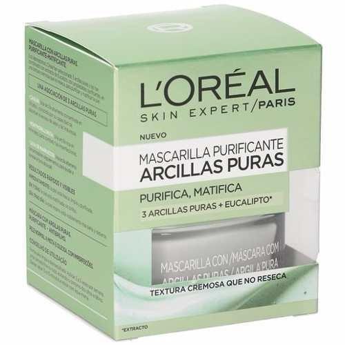 loreal mascarilla 3 arcillas puras purificante  50ml