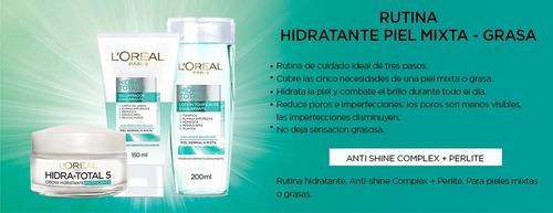 loreal paris hidra total 5 piel mixta a grasa cuidado diario