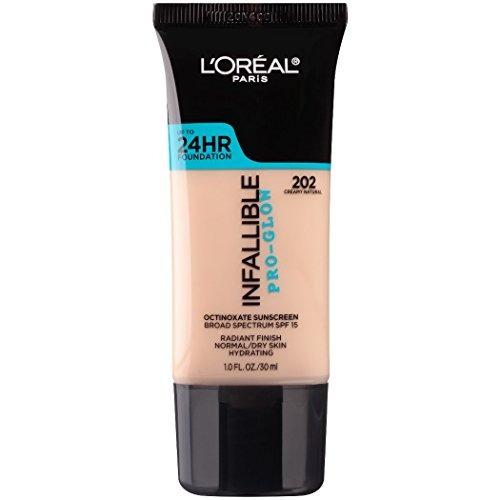 l'oréal paris infalible pro-glow foundation, creamy natural,