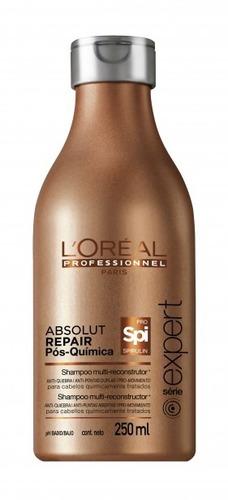 loreal professionel shampoo absolut repair pós-química 250ml