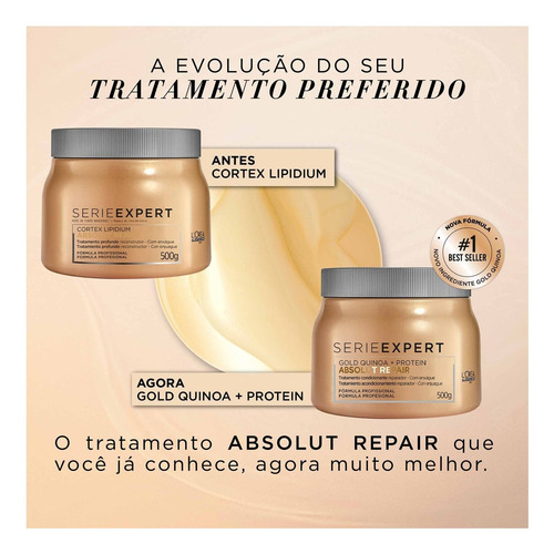 l'oréal professionnel absolut repair cort- máscara 500g blz