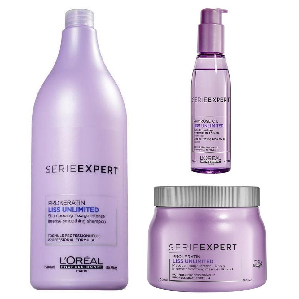 cd1e83b72 loreal profissional liss unlimited shampoo + mascara + serum. Carregando  zoom.