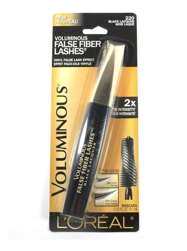 loreal rimel voluminous false fiber lashes 220 black 9,5 ml