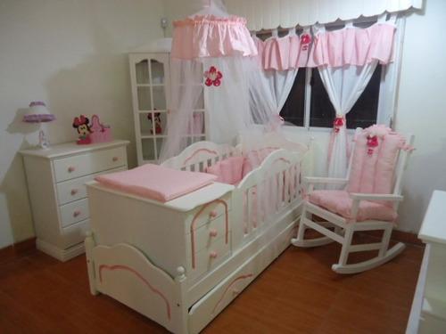 lorecunas dormitorio tomy cuna funcional+ ropero+ chiffonier
