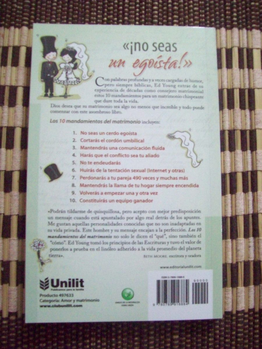 Los 10 mandamientos del matrimonio libro pdf crepusculo