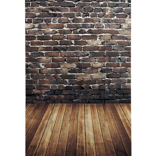 los 3x5ft fondo pared fondo apoyos de ladrillo rojo madera e