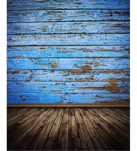 los 3x5ft vinilo tablero azul piso fotografía fondo de telón